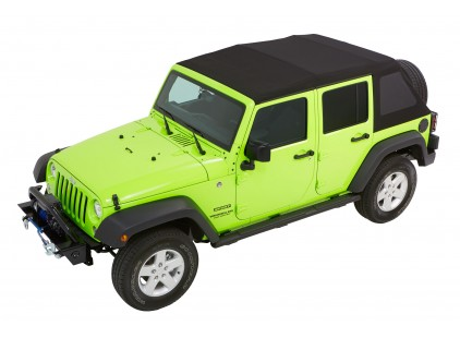 2007-2017 Jeep Wrangler  Unlimited (Four-door) Trektop NX Glide (Twill fabric)
