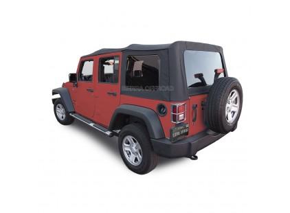 2007-2009 Jeep JK 4 Door Sailcloth Vinyl Soft Top, Sierra Off-road