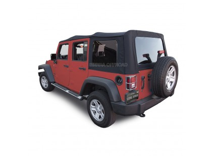 2007-2009 Jeep JK 4 Door Acrylic Twill Material Soft Top, Sierra Off-road
