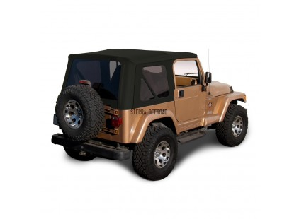 1997-2002 Jeep TJ Sailcloth Vinyl Soft Top, Sierra Off-road