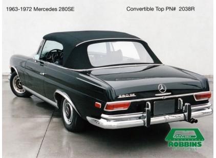 Mercedes 1963-72 SE Convertible Top & Headliner, German Cloth