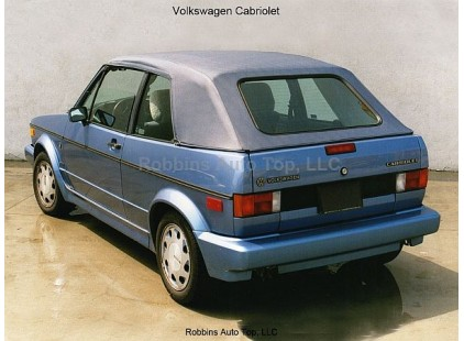 VW Golf I 1980-93 Cabrio Grain Vinyl Top - No Window or Headliner