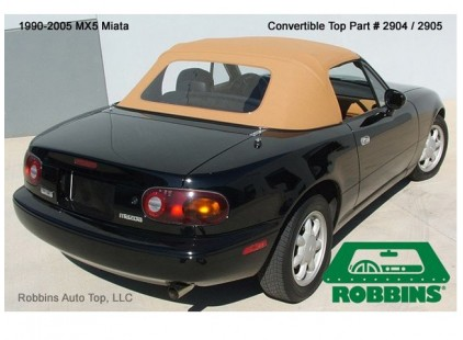Mazda MX-5 1990-97 One Piece Design Cloth Top w/Plastic Window - No Rain Rail