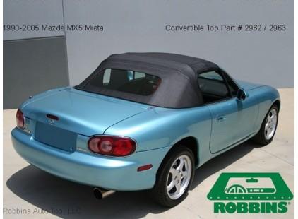 Mazda MX-5 1990-97 Original Style Cloth Top w/Heated Glass Window - No Rain Rail
