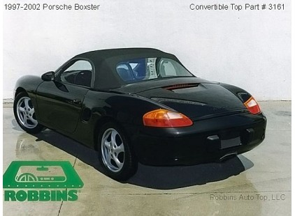 Porsche Boxster 1997-02 German A5S Cloth Top w/Plastic Window