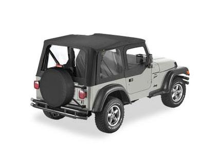 Jeep Wrangler TJ 1996-02 Bestop Replace-A-Top w/Half Door Skins & Clear Windows