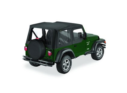 Jeep Wrangler Soft Top: 1996-06 Wrangler TJ Bestop Replace-A-Top w/Half Door Skins & Clear Windows