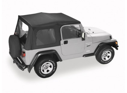 Jeep Wrangler TJ 1996-06 Pavement Ends Replay Top w/Half Door Skins & Clear Windows