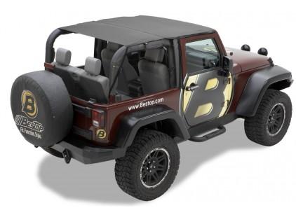 Bestop Safari Jeep Bikini Top: 2010-14 Wrangler JK