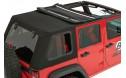 Jeep Wrangler Soft Top:  2007-15 Wrangler JK (Four Door) Bestop Trektop NX PRO