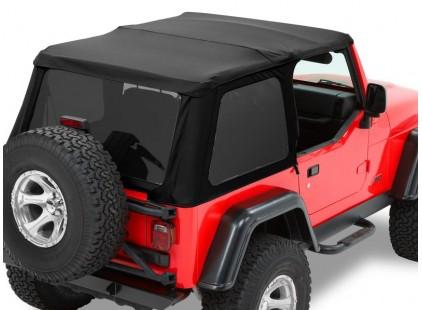 Jeep Wrangler Soft Top:  1997-06 Wrangler TJ Trektop NX Black Twill w/Tinted Side and Rear Windows