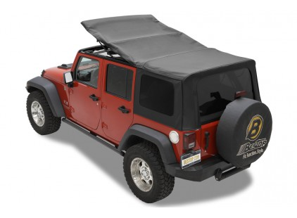 2010-14 Jeep Wrangler Unlimited Soft Top (Four Door) Bestop Replace-A-Top w/Tinted Side & Rear Windows