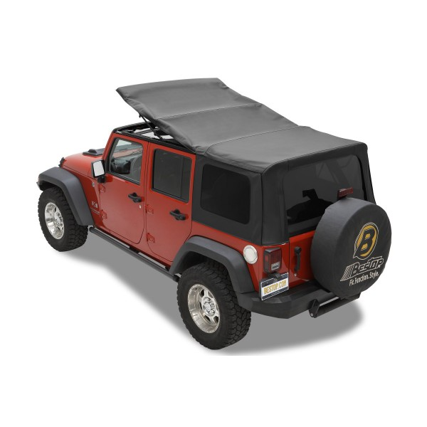2010 14 jeep wrangler unlimited soft top four door bestop replace a top w tinted side rear. Black Bedroom Furniture Sets. Home Design Ideas