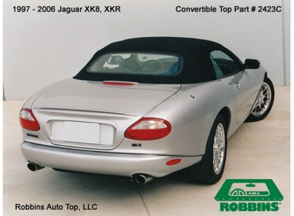 Jaguar XK8 1997-06, XKR Convertible Top, German A5 Cloth, No Window