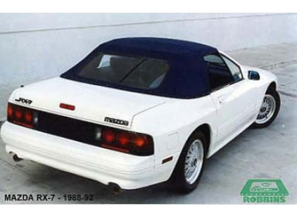 Mazda RX7 1988-92 Complete Vinyl Top and Rear Window Assembly, No Rainguards
