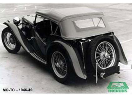 MG 1946-49 TC Crush Grain Vinyl Top with Single plastic rear window