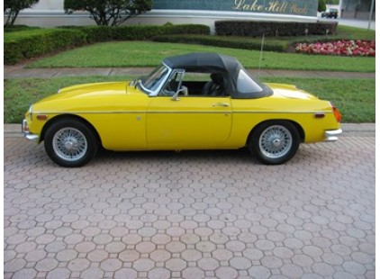 MGB 1963-1970 Convertible Top, Stow-Away, Haartz Stayfast Cloth